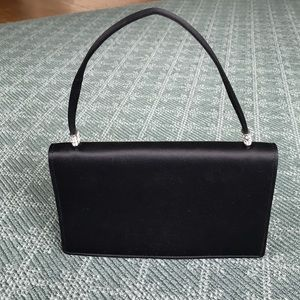 Nordstrom Black Satin Evening Bag